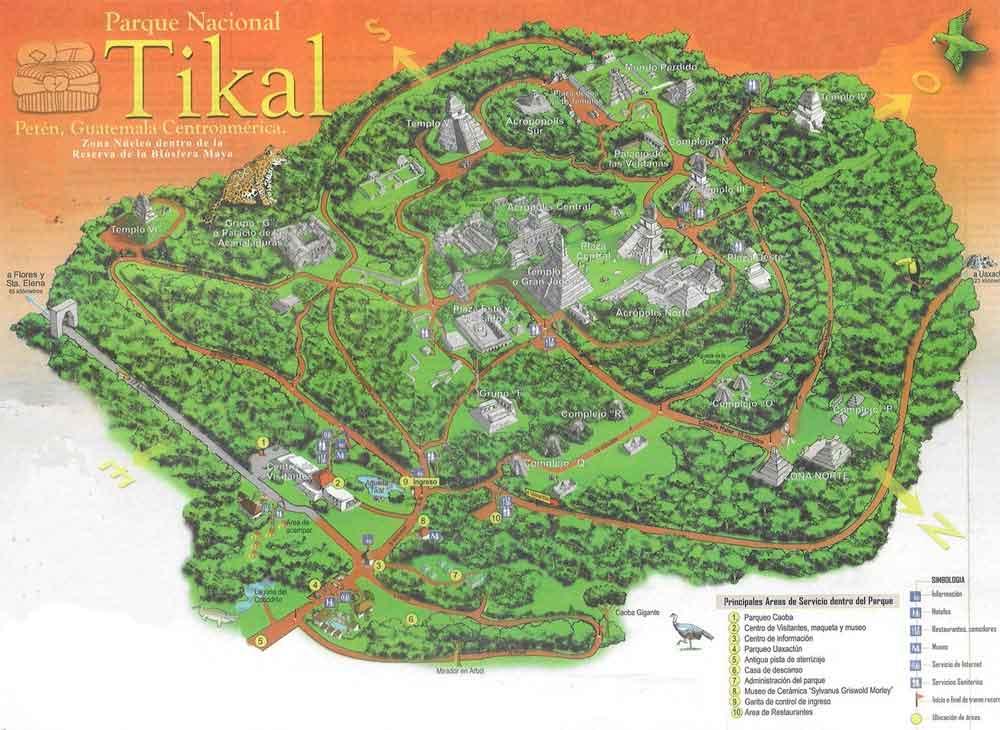 tikal guatemala map igip