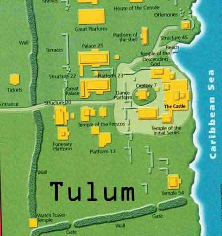 Tulum In Quintana Roo Mexico